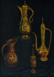 No. 2  Still Life Copper Coffee Urns-copyright