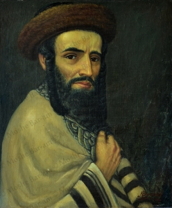 No. 4  Portrait of Rabbi with Talit, Chasid-copyright
