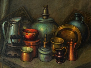 No. 44  Still Life Copper and Ceramics-copyright