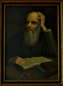No. 6  Portrait of Rabbi with Book -copyright
