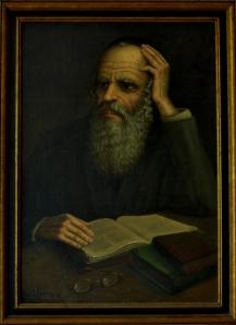No. 6  Portrait of Rabbi with Book -copyright