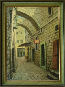 No. 8A  Landscape Jerusalem Alleyway-copyright