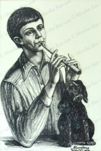 Portrait of Boy with Flute-copyright
